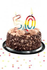Fiftiety birthday or anniversary